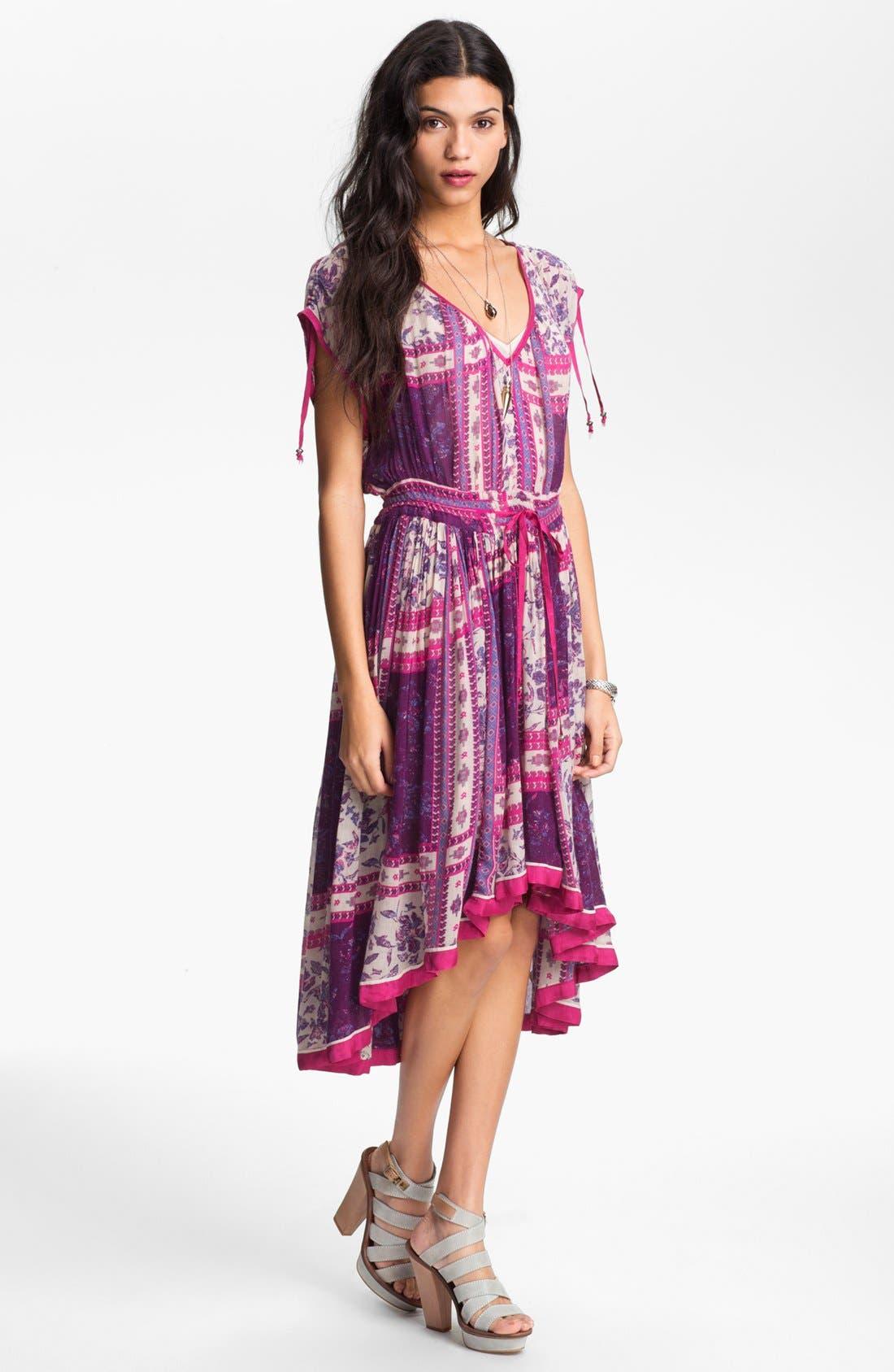 Alternate Image 1 Selected - Free People 'Rose Garden' Print Peasant Dress