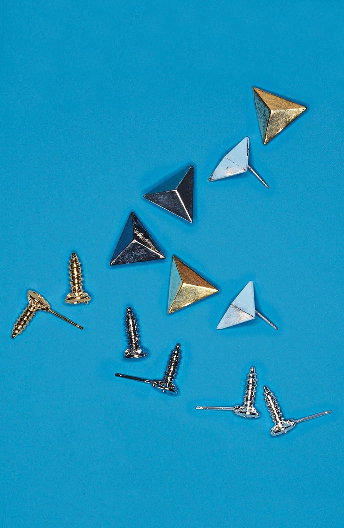 Alternate Image 3  - Cara Pyramid Stud Earrings