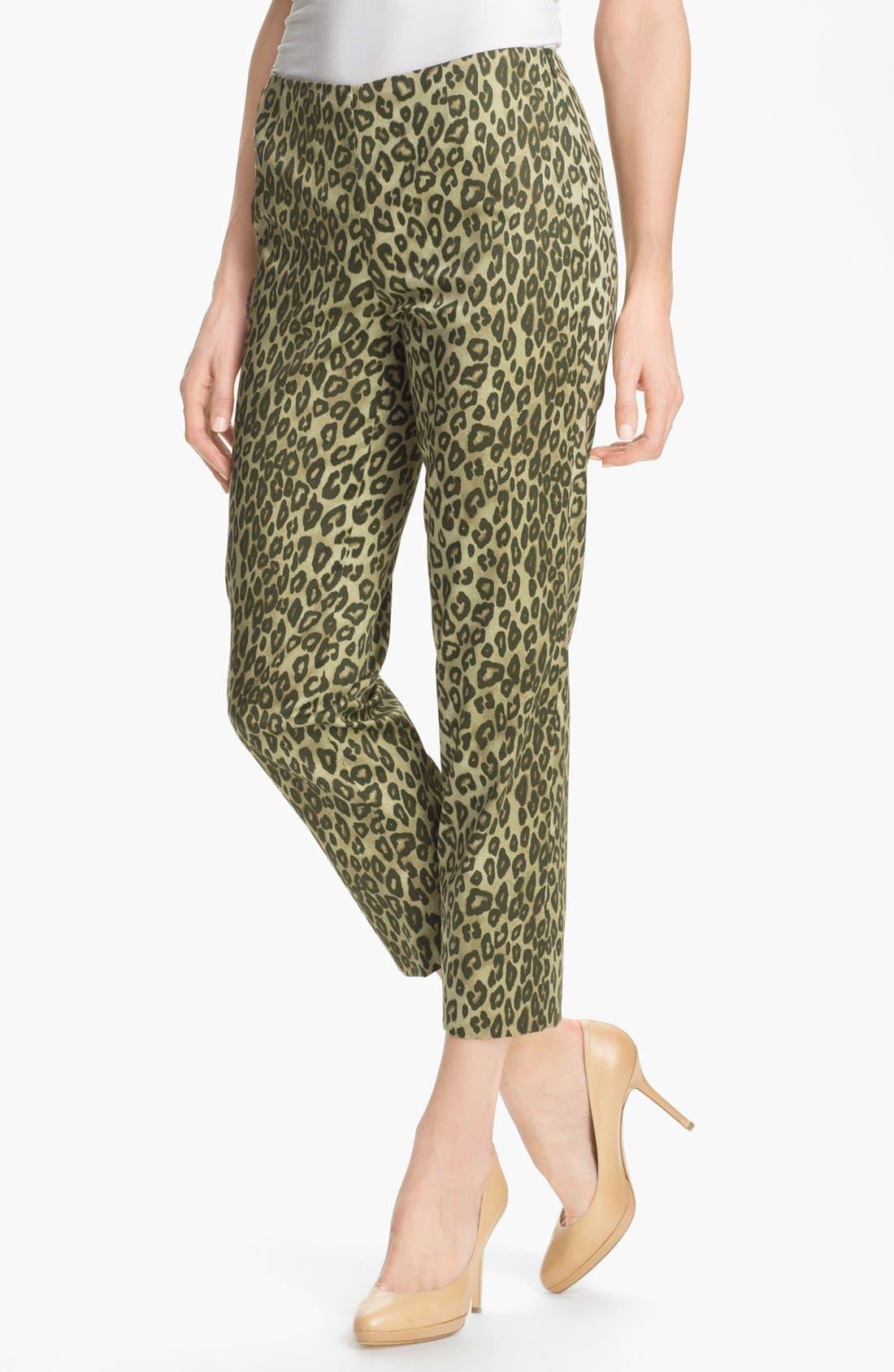 Alternate Image 1 Selected - Lafayette 148 New York 'Bleecker - Senegal Cheetah' Crop Pants