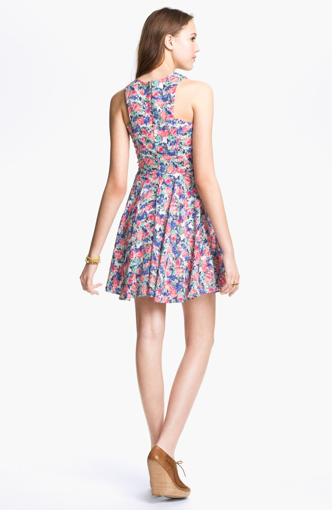 Alternate Image 2  - dee elle Print Skater Dress (Juniors)
