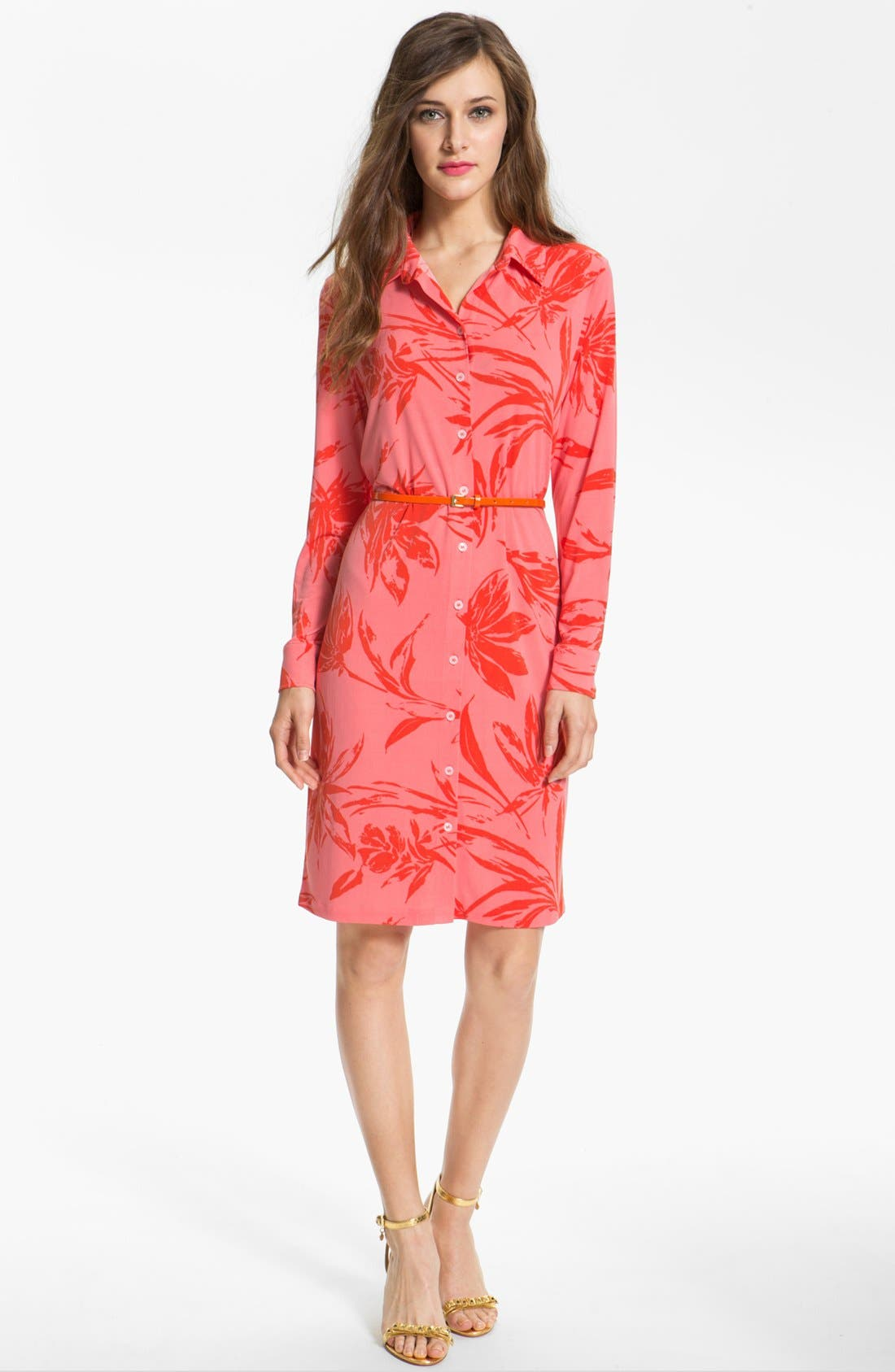 Alternate Image 1 Selected - Anne Klein Floral Print Shirtdress
