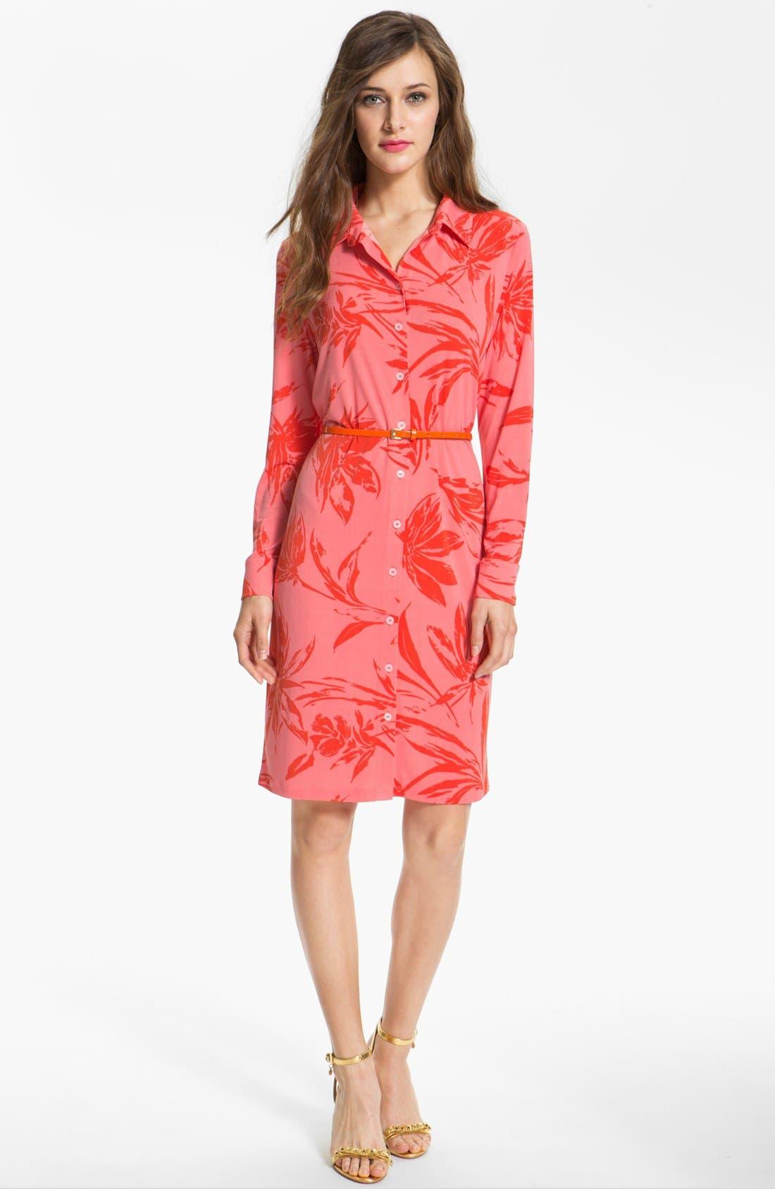 Main Image - Anne Klein Floral Print Shirtdress