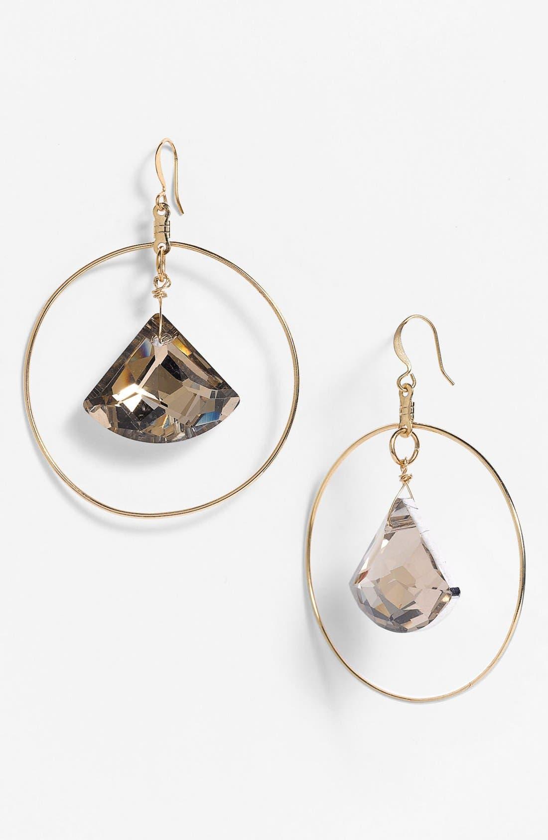 Alternate Image 1 Selected - Verdier Jewelry Crystal Hoop Earrings