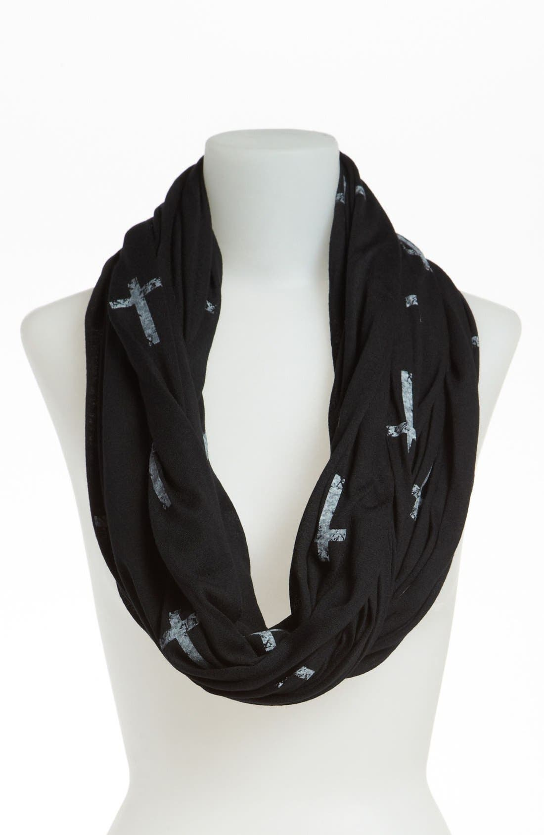 Main Image - David & Young Cross Print Circle Scarf