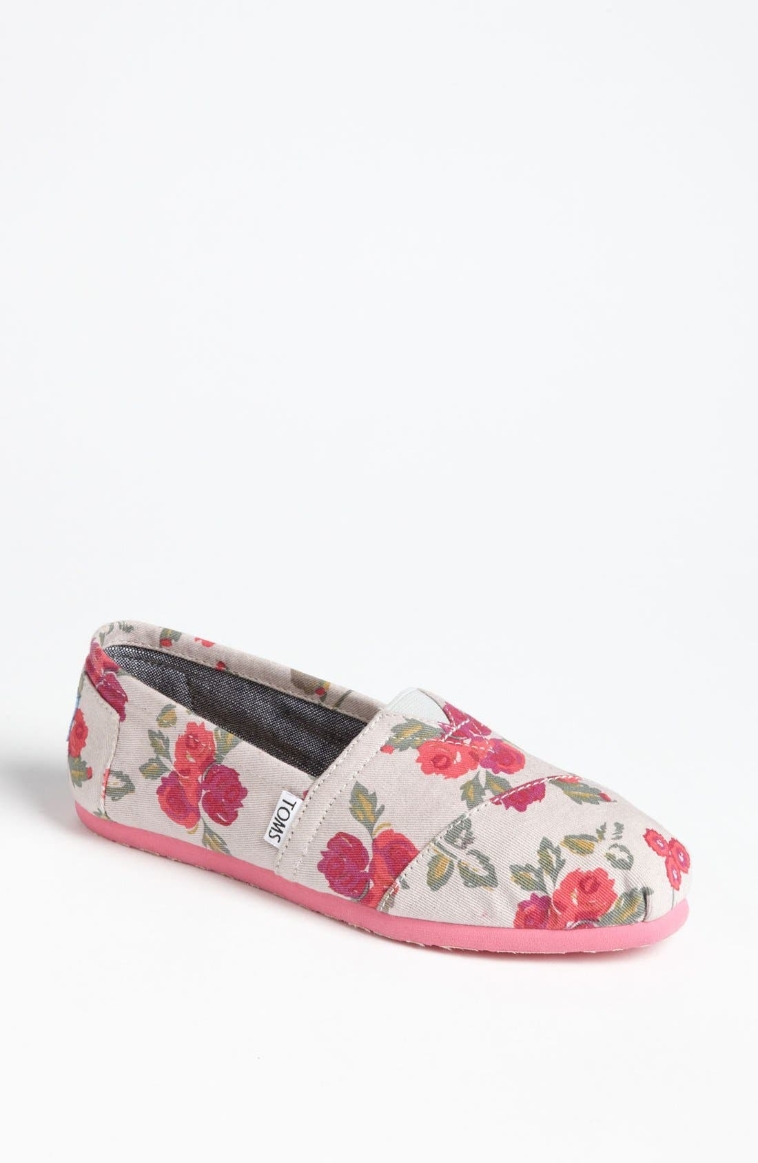 Main Image - TOMS 'Classic - Floral' Slip-On (Women)
