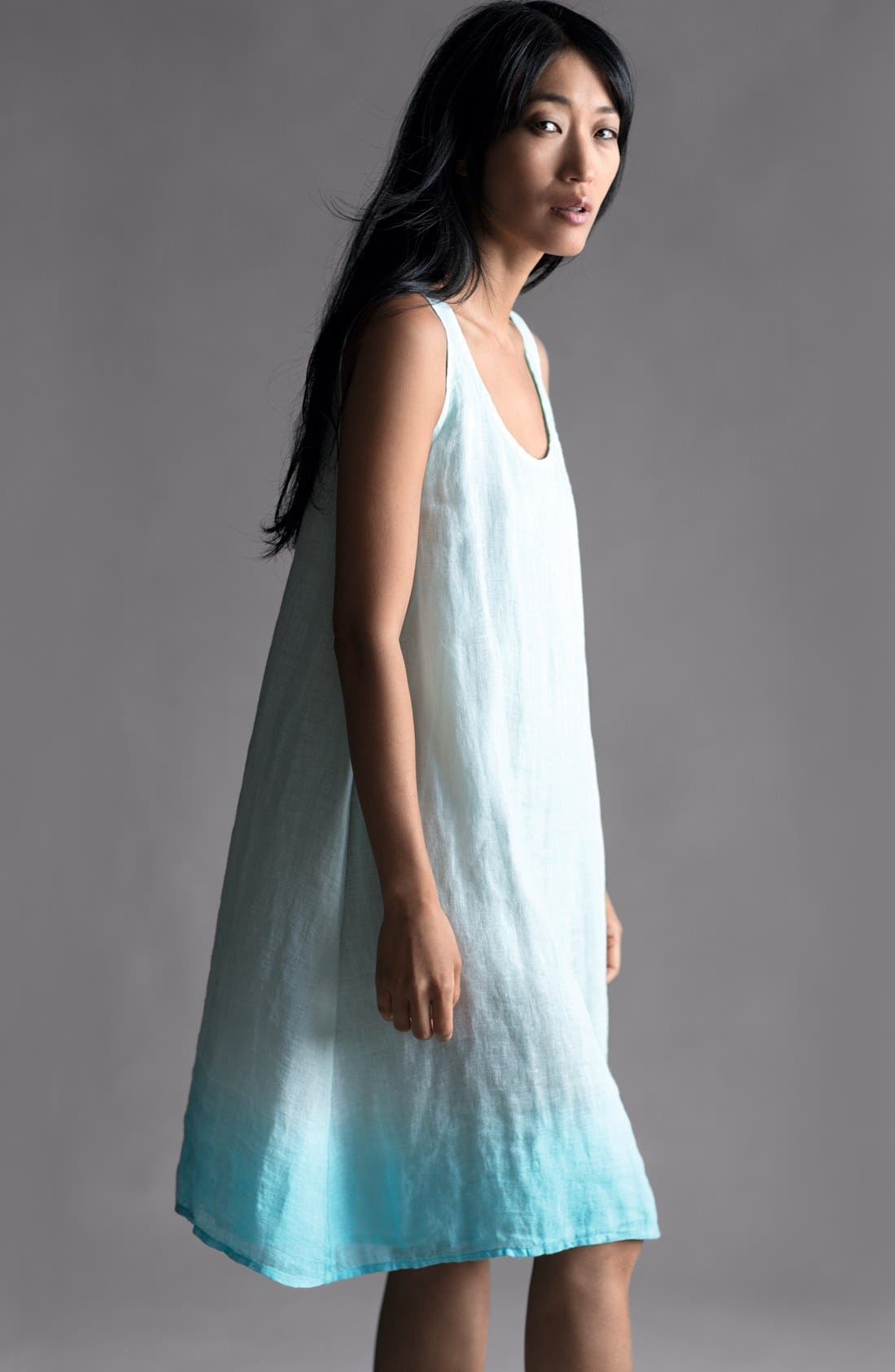 Alternate Image 4  - Eileen Fisher Scoop Neck Layering Dress with Slip