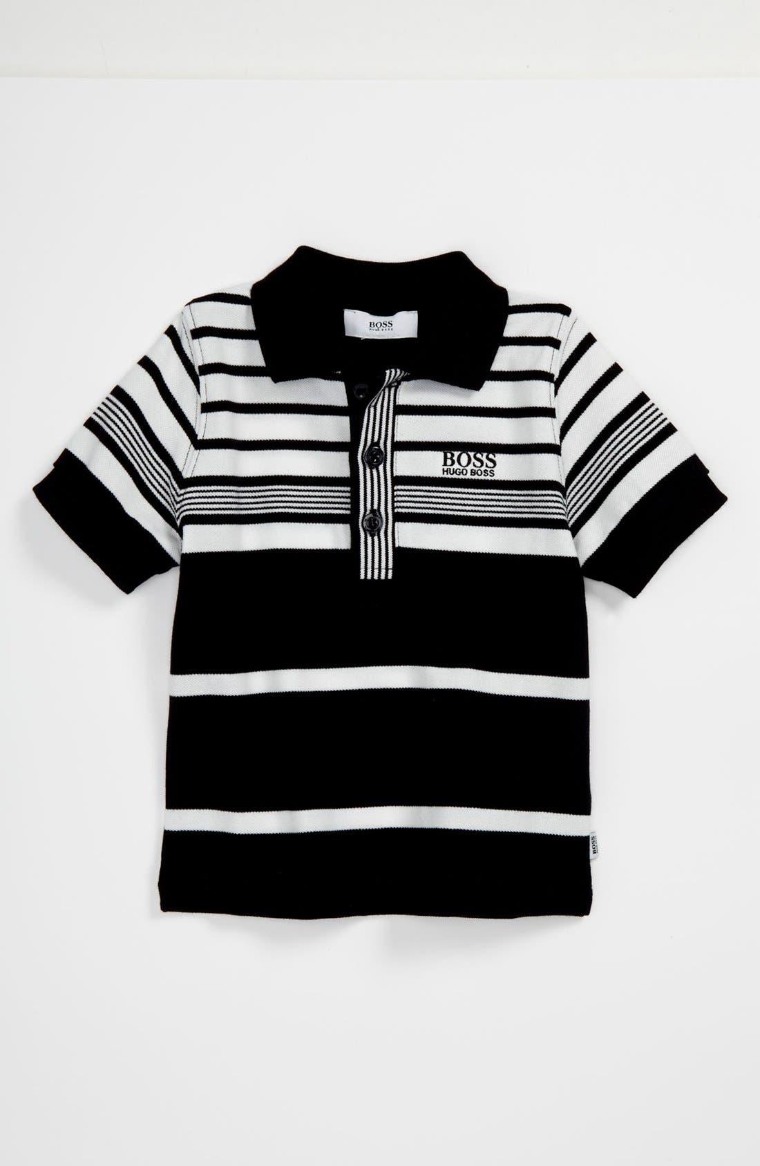 Main Image - BOSS Kidswear Stripe Polo (Toddler)