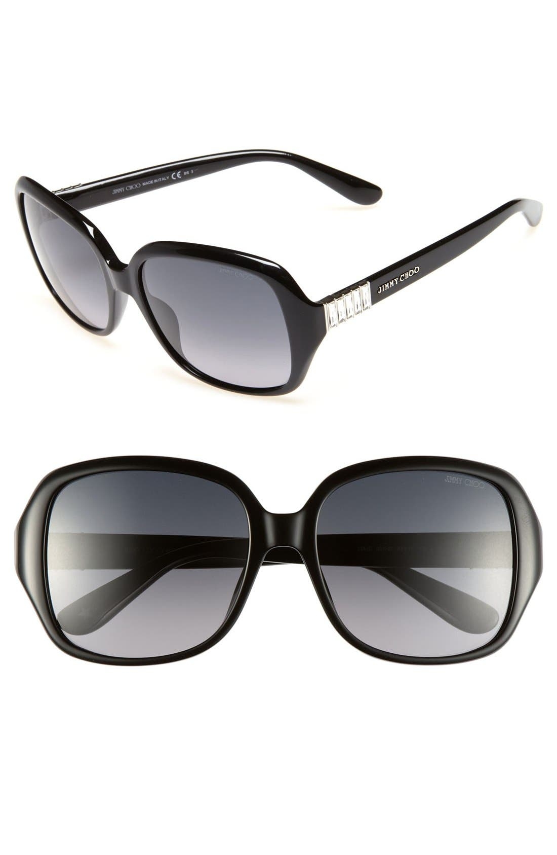 Main Image - Jimmy Choo 'Lia' 56mm Sunglasses