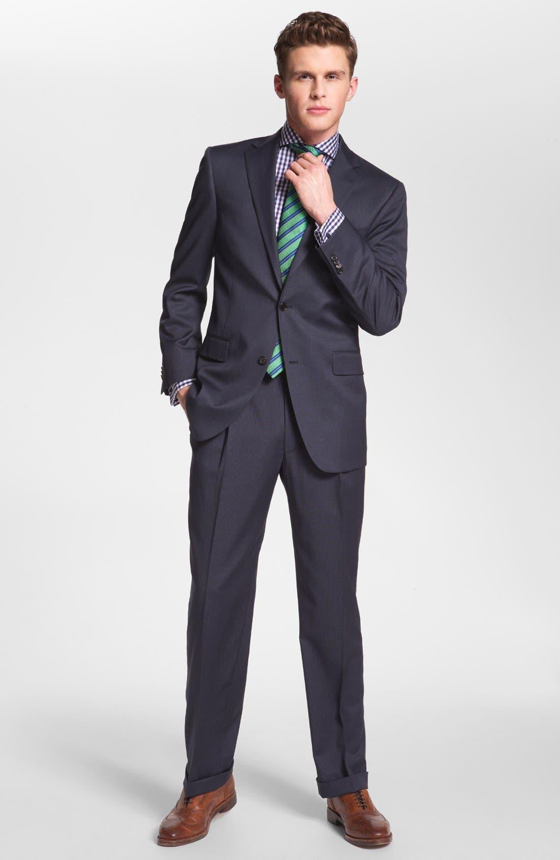 Alternate Image 2  - Hart Schaffner Marx Worsted Wool Suit