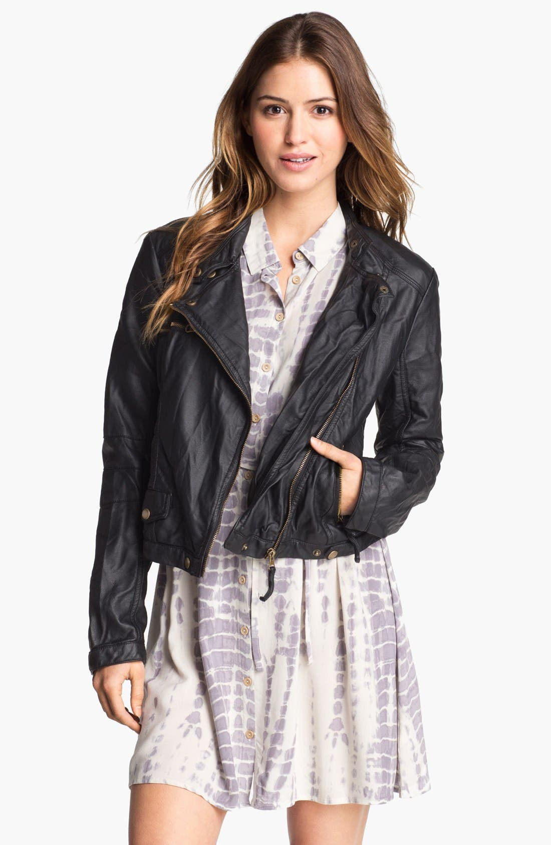 Main Image - Research & Design Faux Leather Jacket (Online Only)