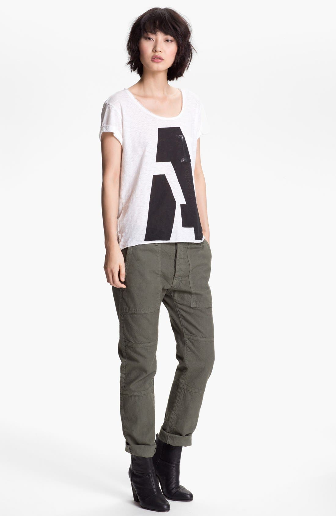 Alternate Image 2  - rag & bone/JEAN 'Alphabet' Pocket Tee