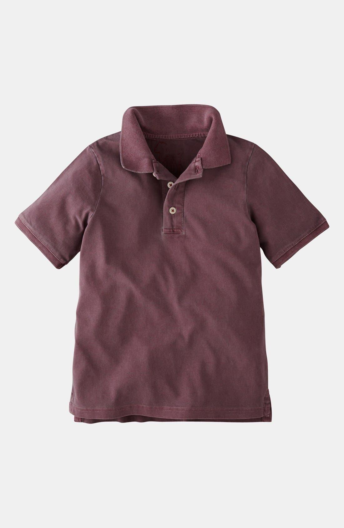 Alternate Image 1 Selected - Mini Boden Garment Dyed Polo (Little Boys & Big Boys)