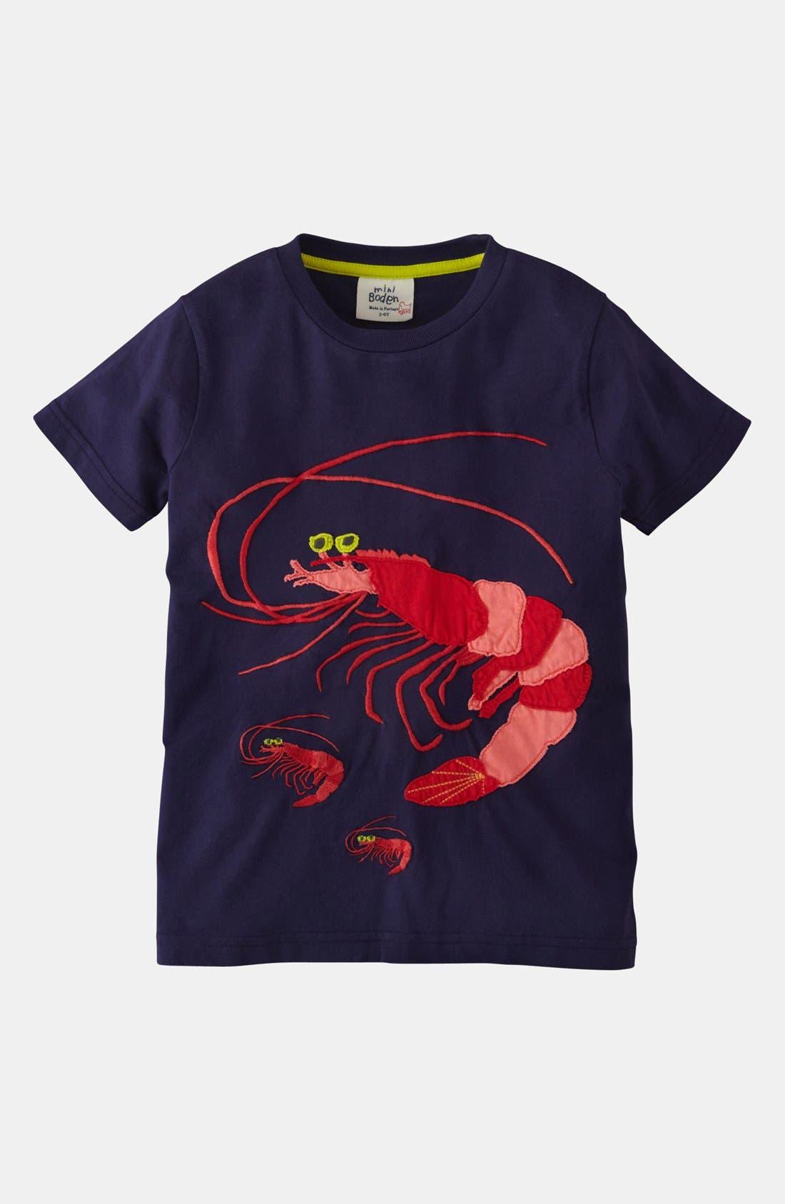 Alternate Image 1 Selected - Mini Boden 'Big Appliqué' T-Shirt (Little Boys & Big Boys)