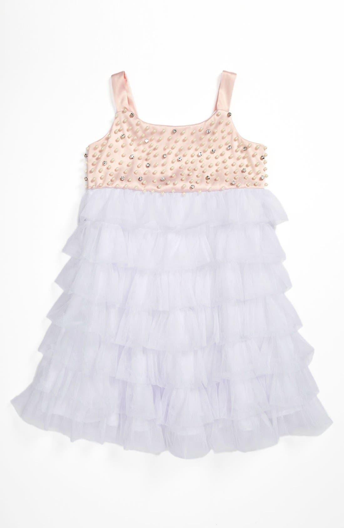 Alternate Image 1 Selected - La Piccola Danza Kidswear Beaded Bodice Dress (Little Girls)