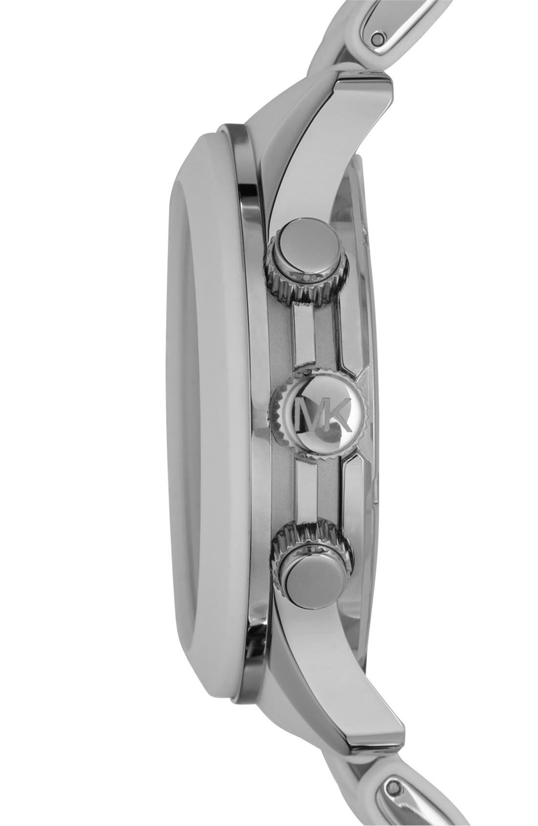 Alternate Image 3  - Michael Kors 'Large Runway Silicone Wrap' Watch, 46mm