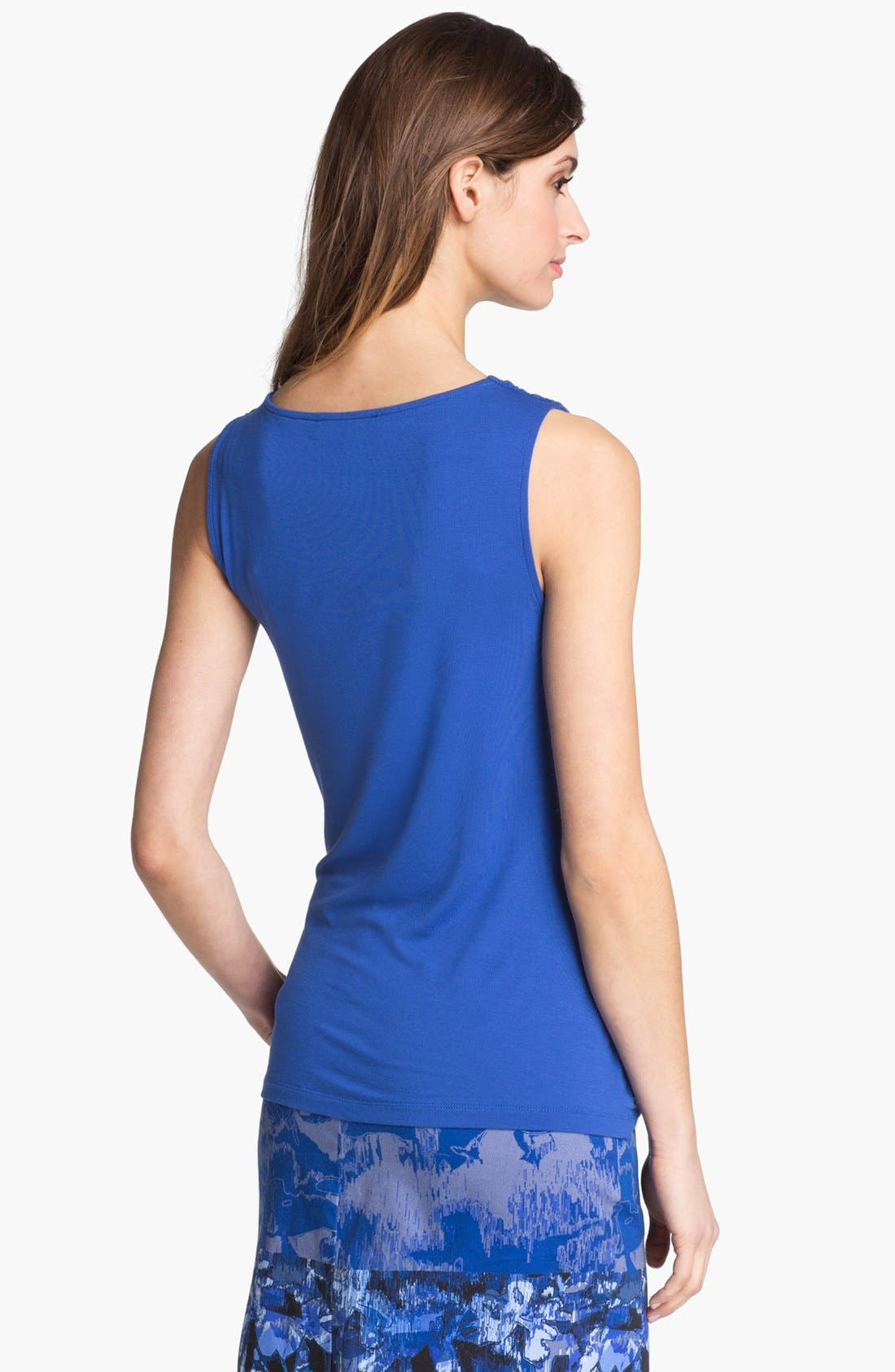 Alternate Image 3  - Adrianna Papell Drape Neck Side Pleat Top