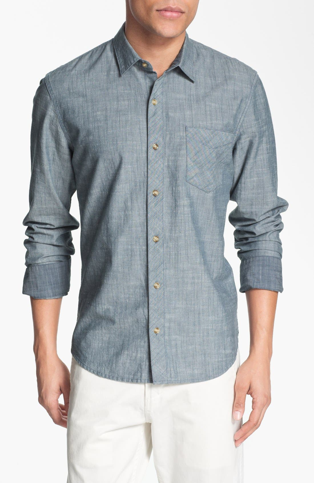 Alternate Image 1 Selected - 1901 Regular Fit Chambray Sport Shirt