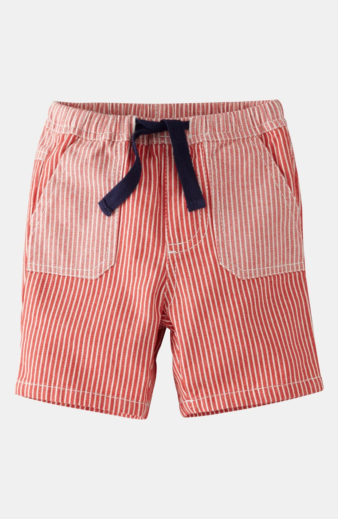 Main Image - Mini Boden 'Ticking' Shorts (Baby)