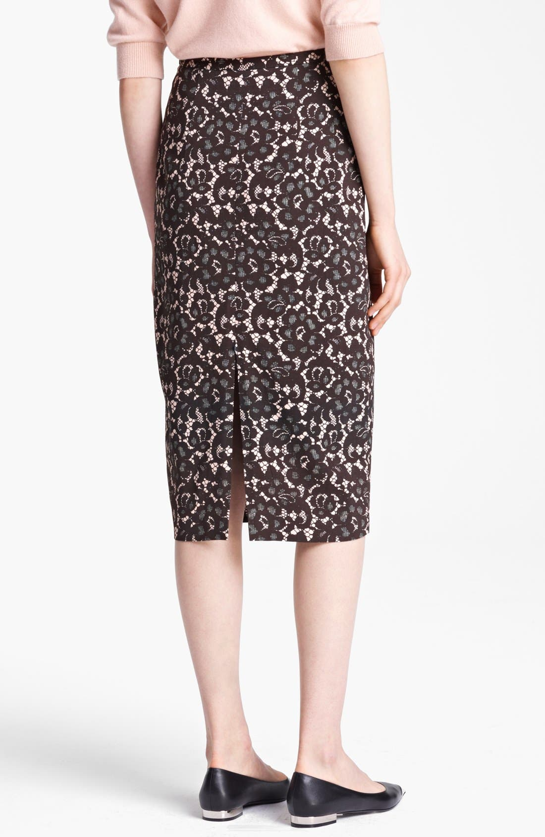 Alternate Image 2  - Michael Kors Guipure Print Stretch Cady Pencil Skirt
