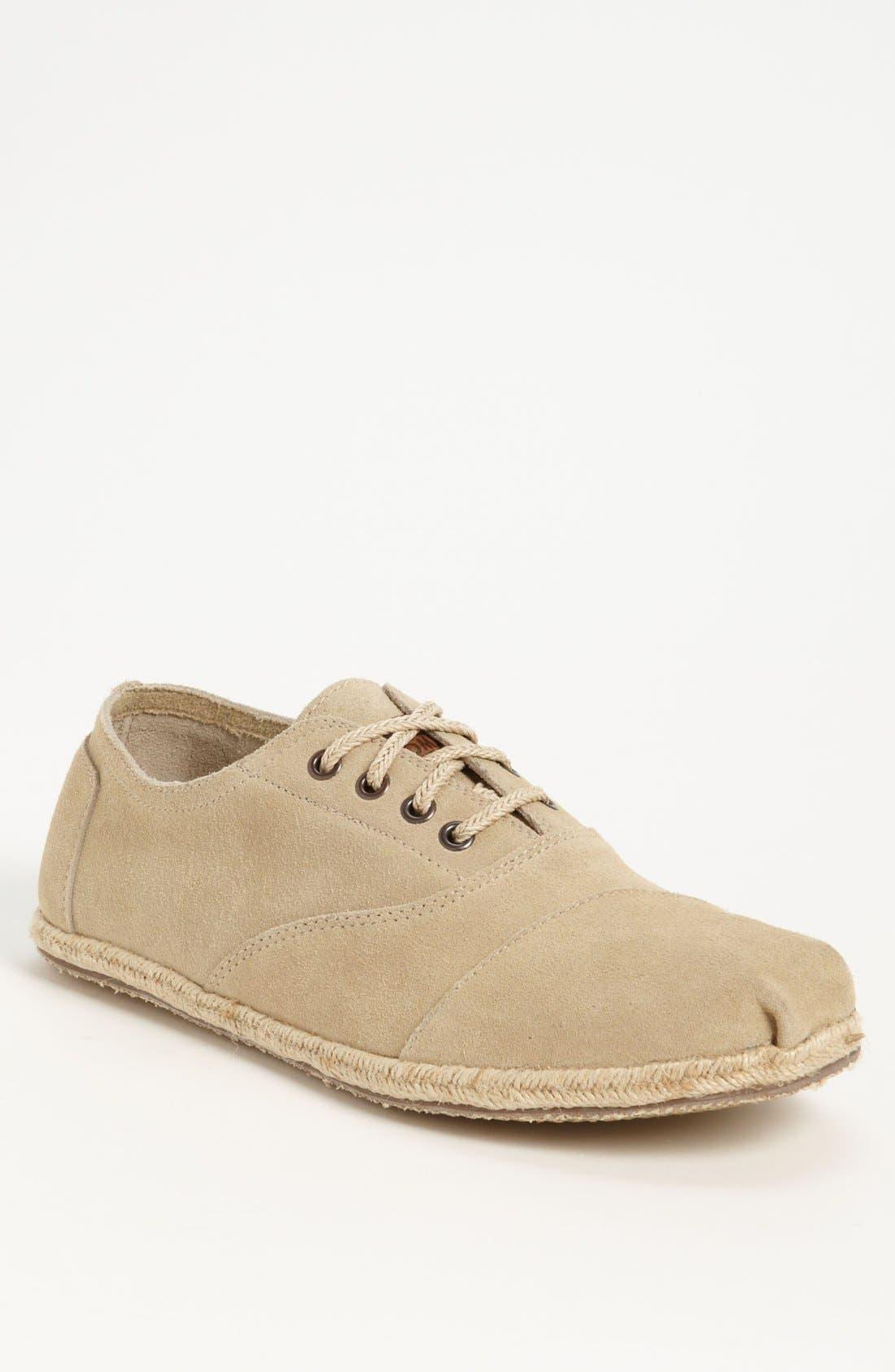 Alternate Image 1 Selected - TOMS 'Cordones' Suede Sneaker (Men)