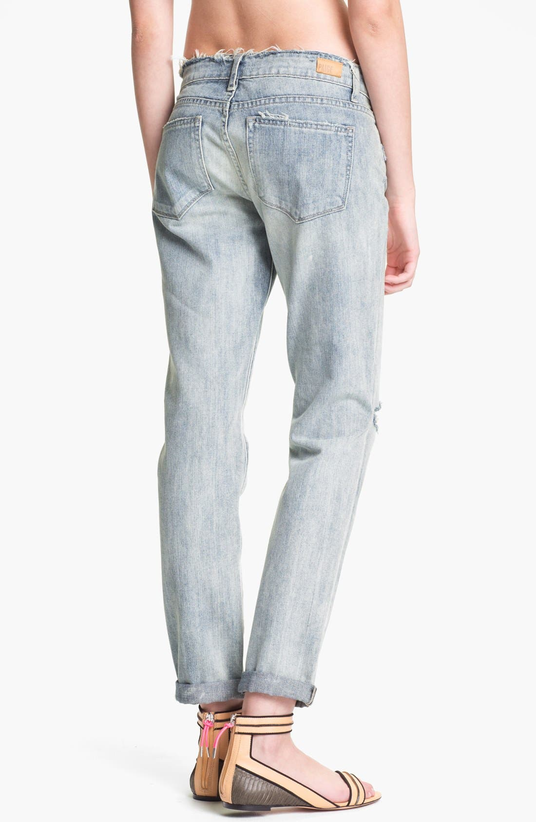 Alternate Image 2  - Paige Denim 'Jimmy Jimmy' Destroyed Relaxed Fit Jeans (Pilot)