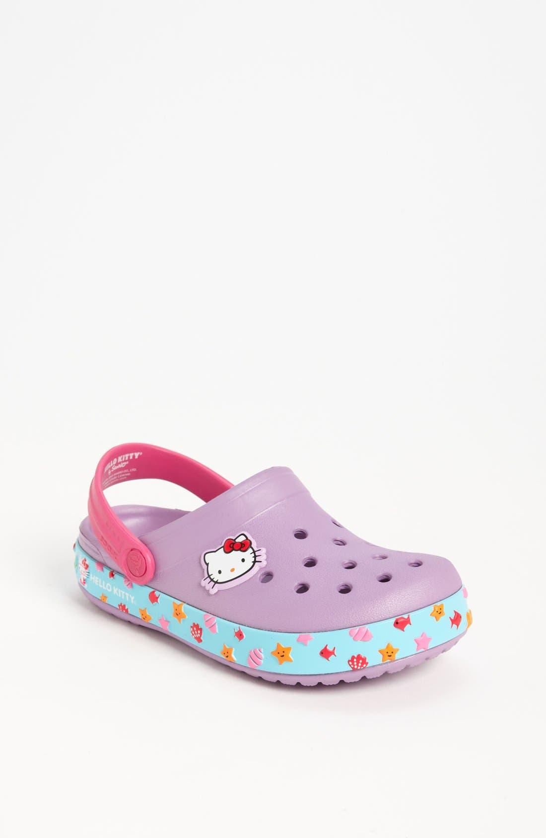 Main Image - CROCS™ 'Hello Kitty® - Mermaid' Slip-On (Walker & Toddler)