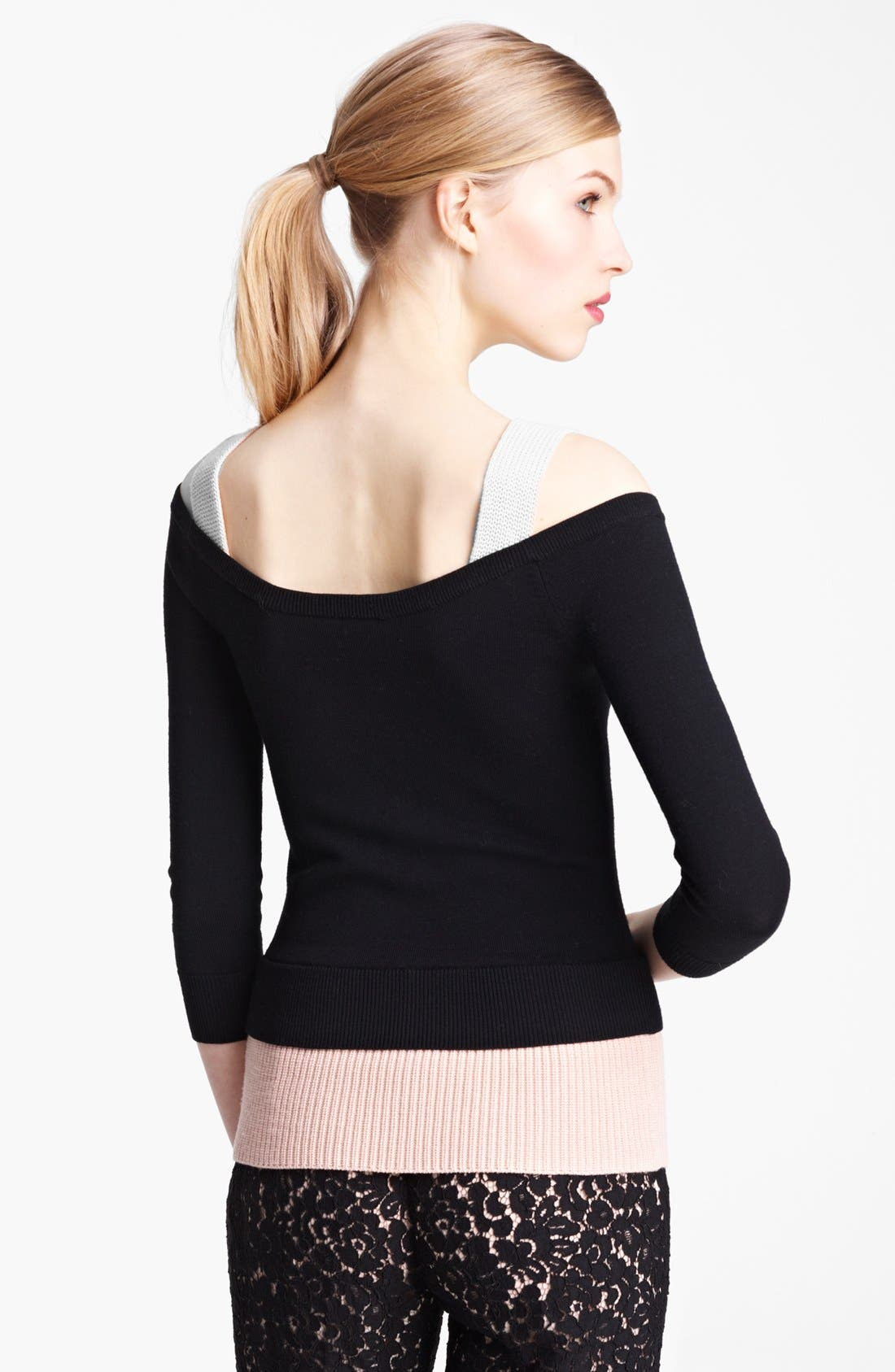 Alternate Image 2  - Michael Kors Layered Merino Wool Sweater
