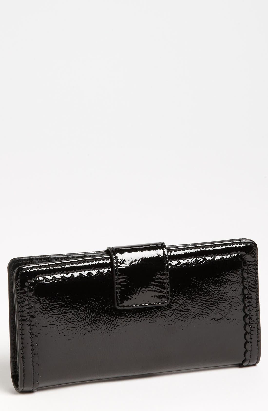 Alternate Image 1 Selected - Halogen 'Victoria' Scalloped Trim Wallet