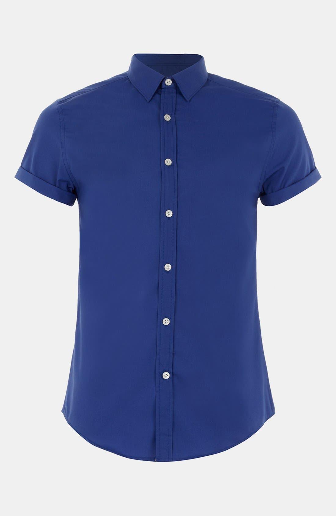 Alternate Image 1 Selected - Topman Short Sleeve Shirt