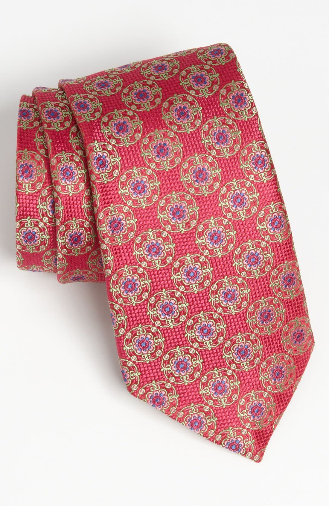 Alternate Image 1 Selected - David Donahue Woven Silk Tie