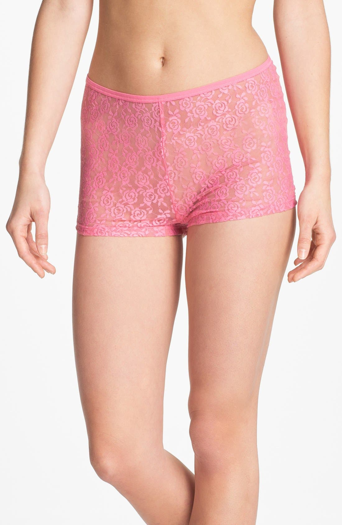 Main Image - Steve Madden 'Beneath It All' Lace Shorts