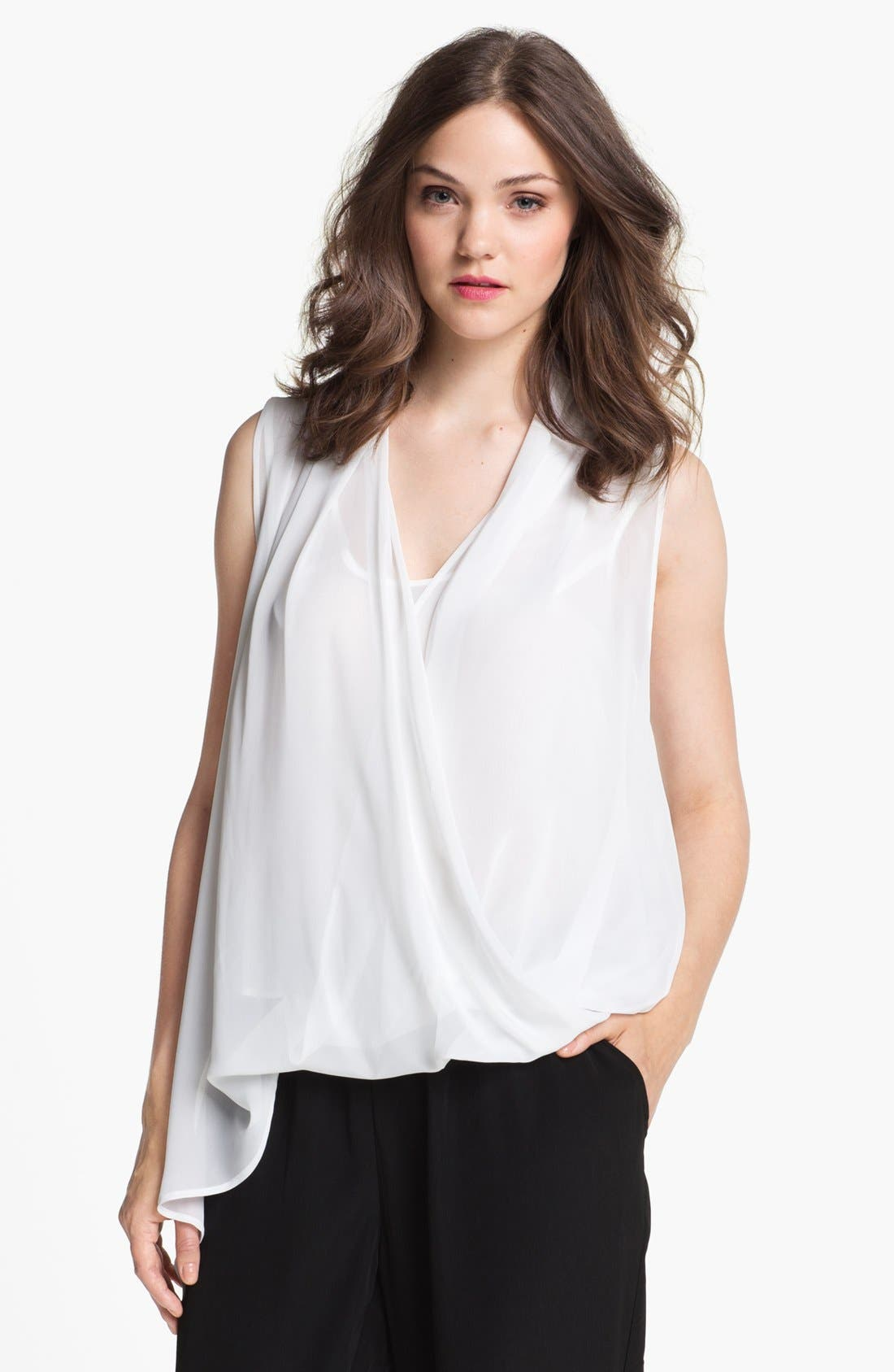 Alternate Image 1 Selected - Kenneth Cole New York 'Dakota' Asymmetrical Wrap Top