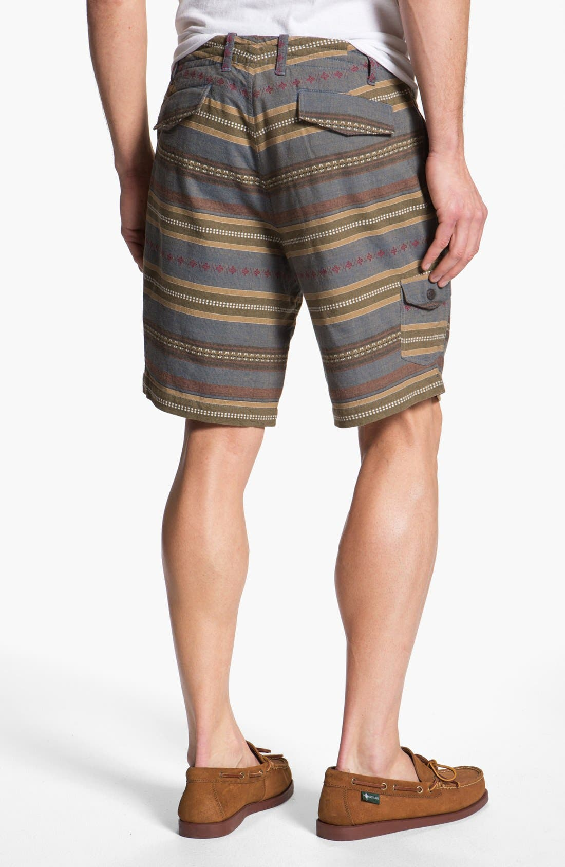 Alternate Image 2  - Burkman Bros Stripe Cargo Shorts