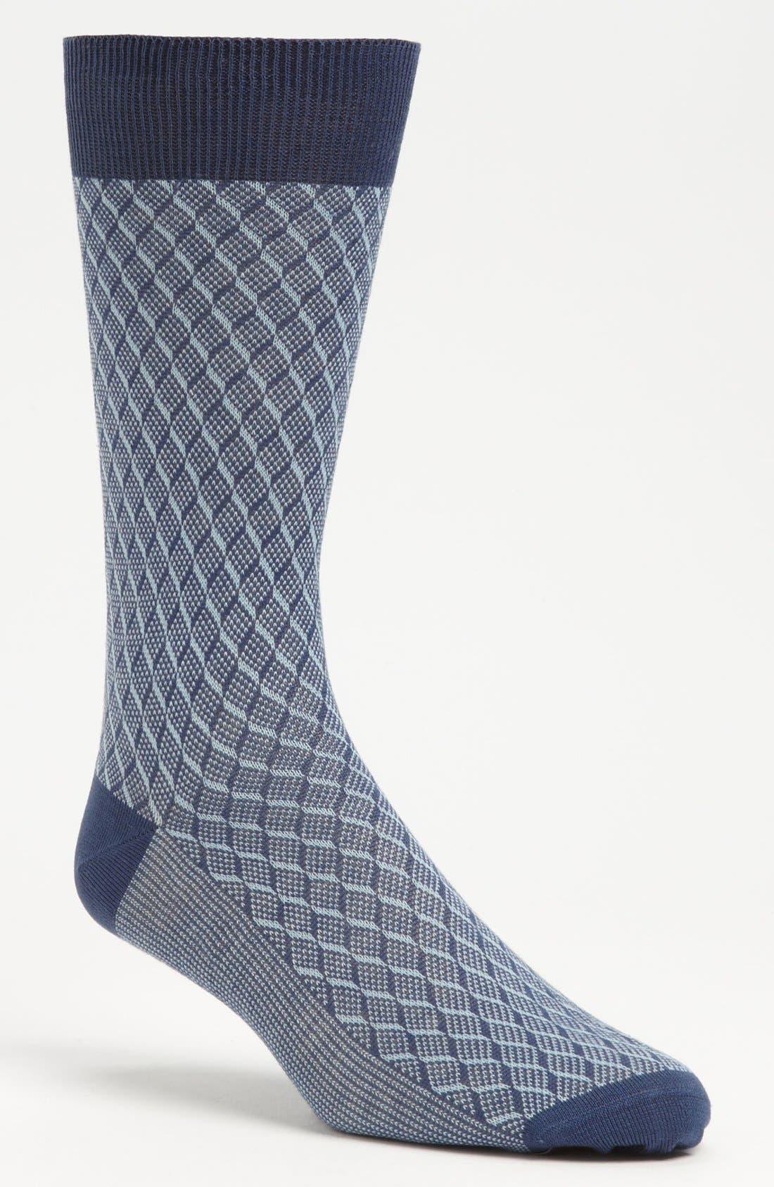 Alternate Image 1 Selected - Canali Check Socks