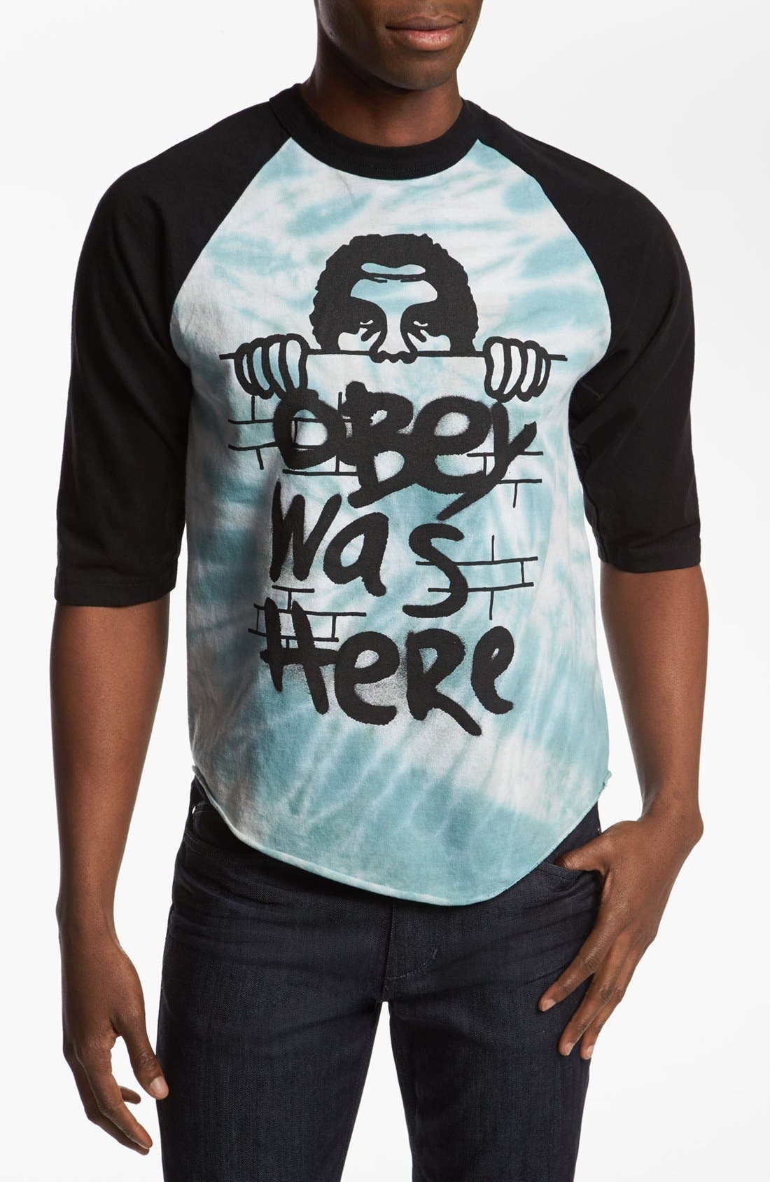 Main Image - Obey 'Obey Was Here' Baseball T-Shirt