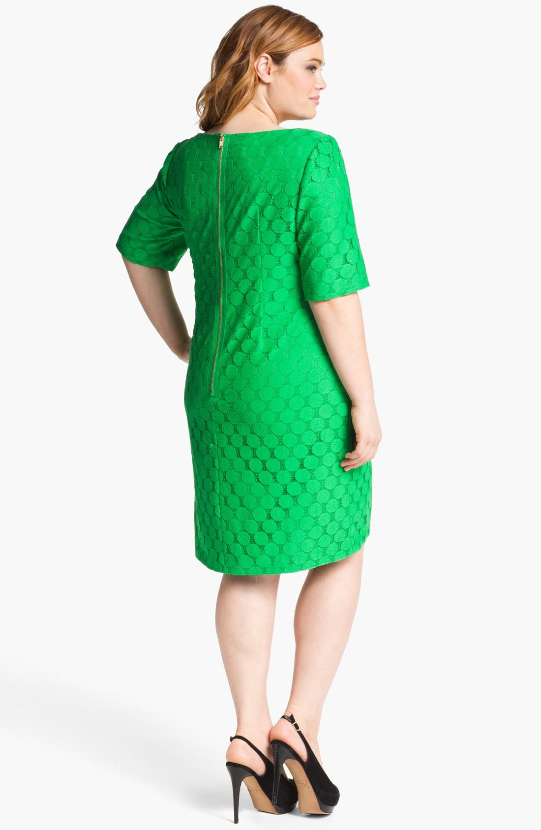 Alternate Image 2  - Adrianna Papell Lace Shift Dress (Plus Size)