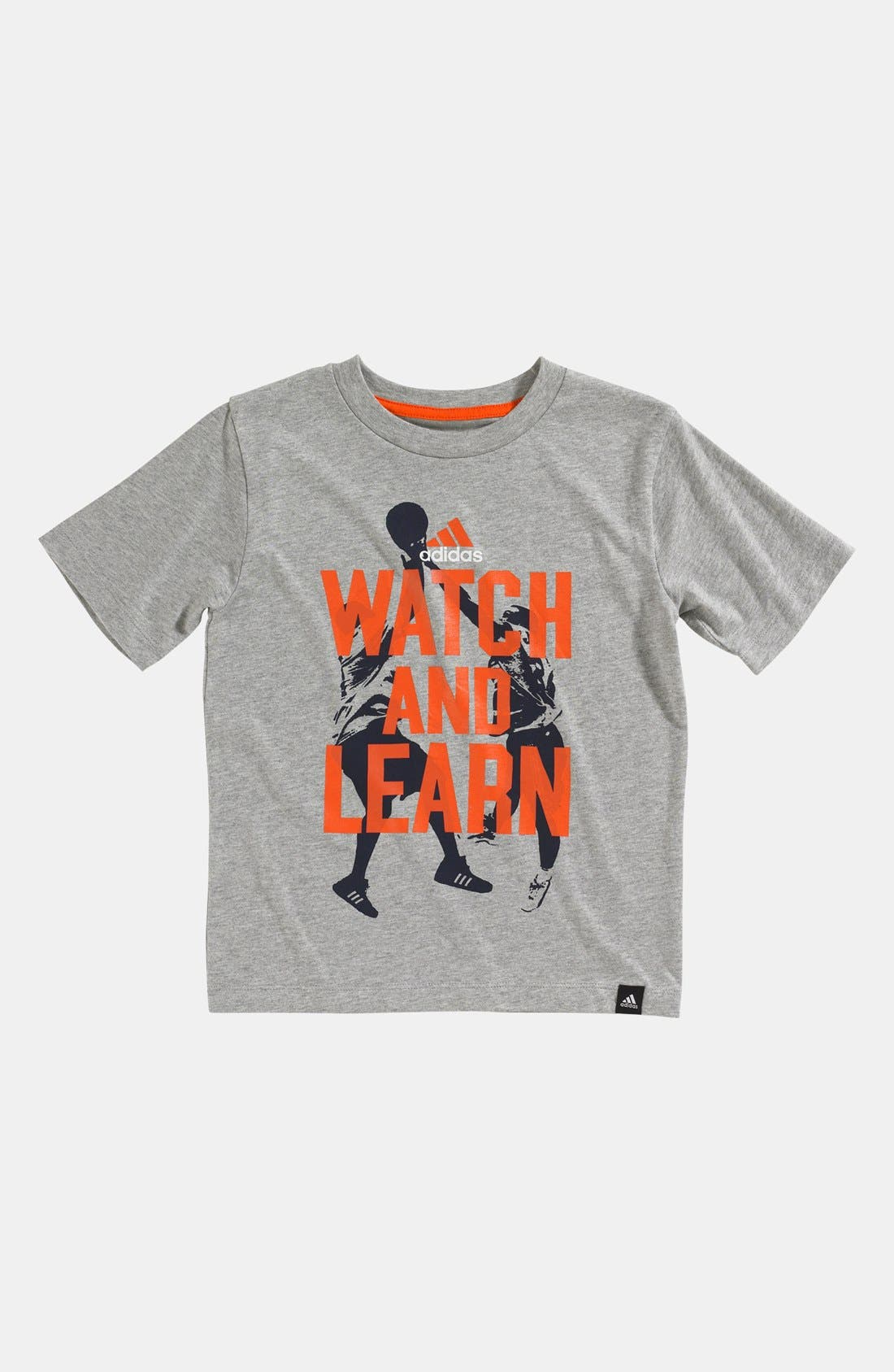 Alternate Image 1 Selected - adidas 'Watch & Learn' T-Shirt (Little Boys)