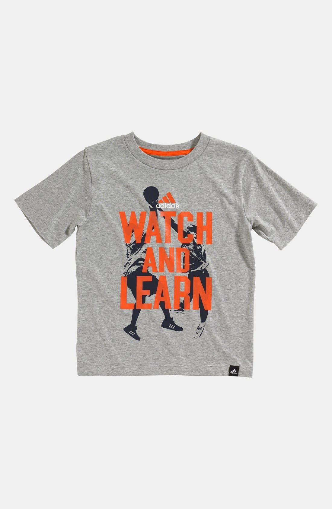 Main Image - adidas 'Watch & Learn' T-Shirt (Little Boys)