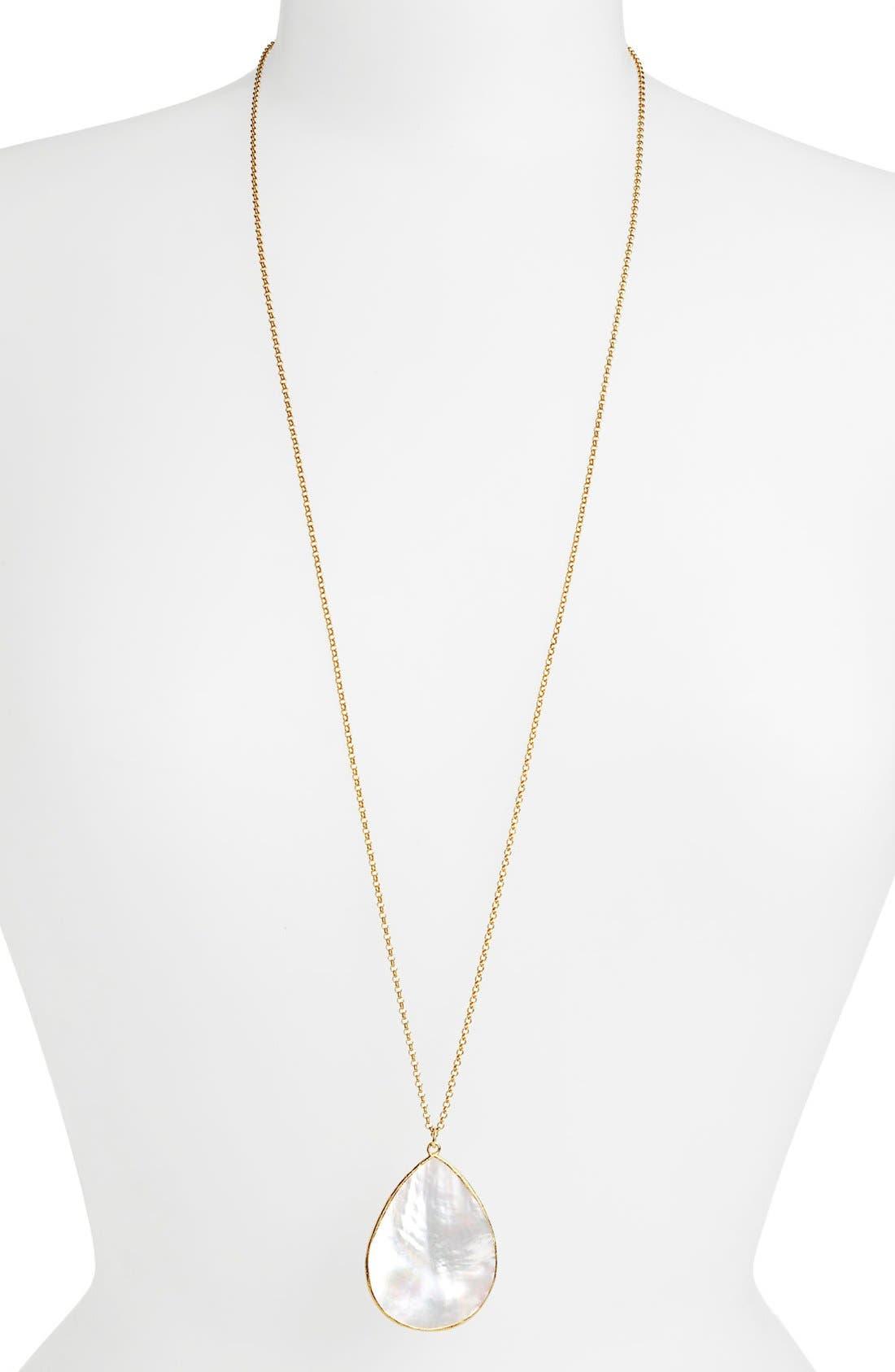 Main Image - Argento Vivo Long Teardrop Pendant Necklace