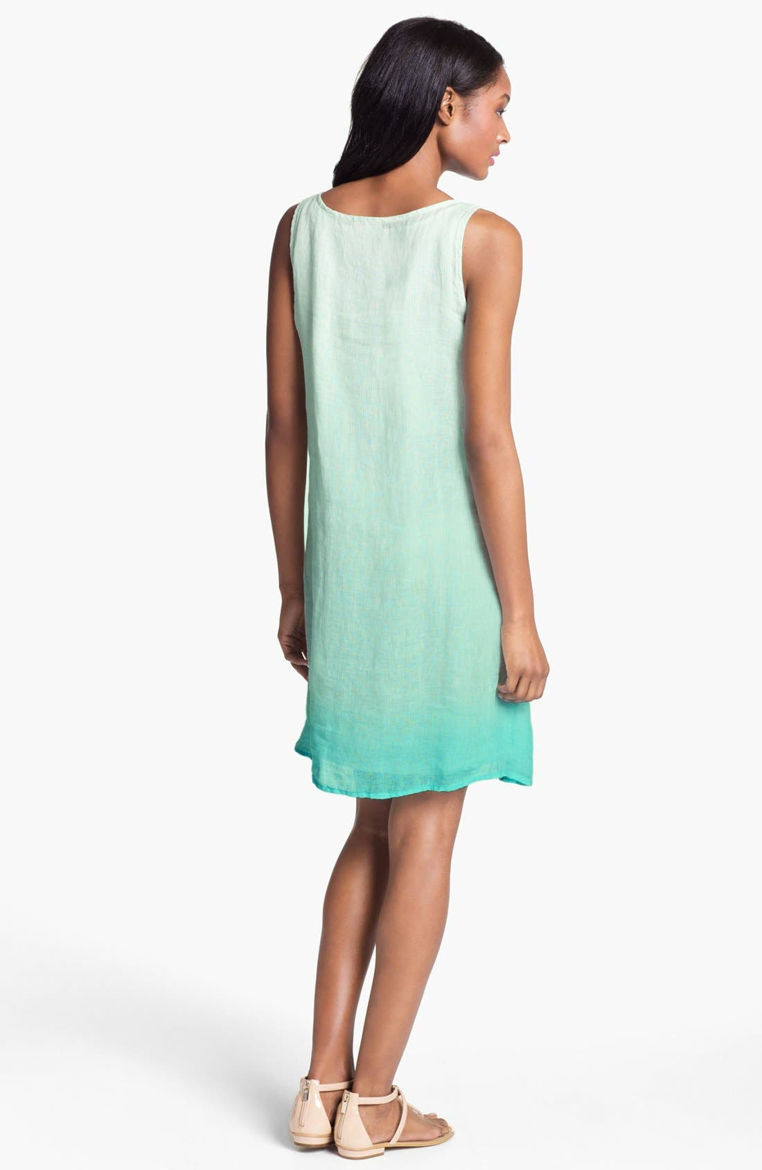 Alternate Image 2  - Eileen Fisher Scoop Neck Layering Dress with Slip