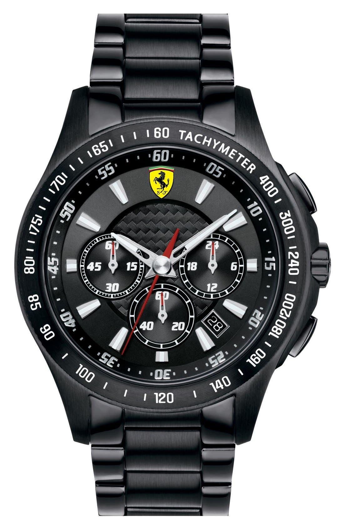 Alternate Image 1 Selected - Scuderia Ferrari Chronograph Bracelet Watch, 44mm