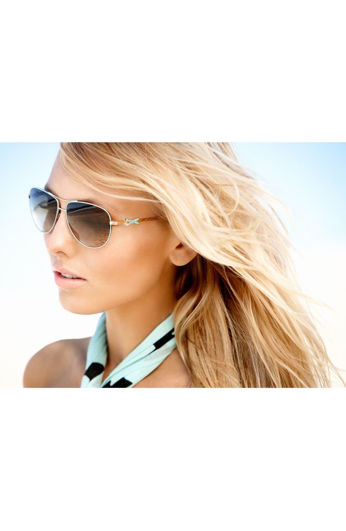 Alternate Image 3  - kate spade new york 'circe' 59mm metal aviator sunglasses