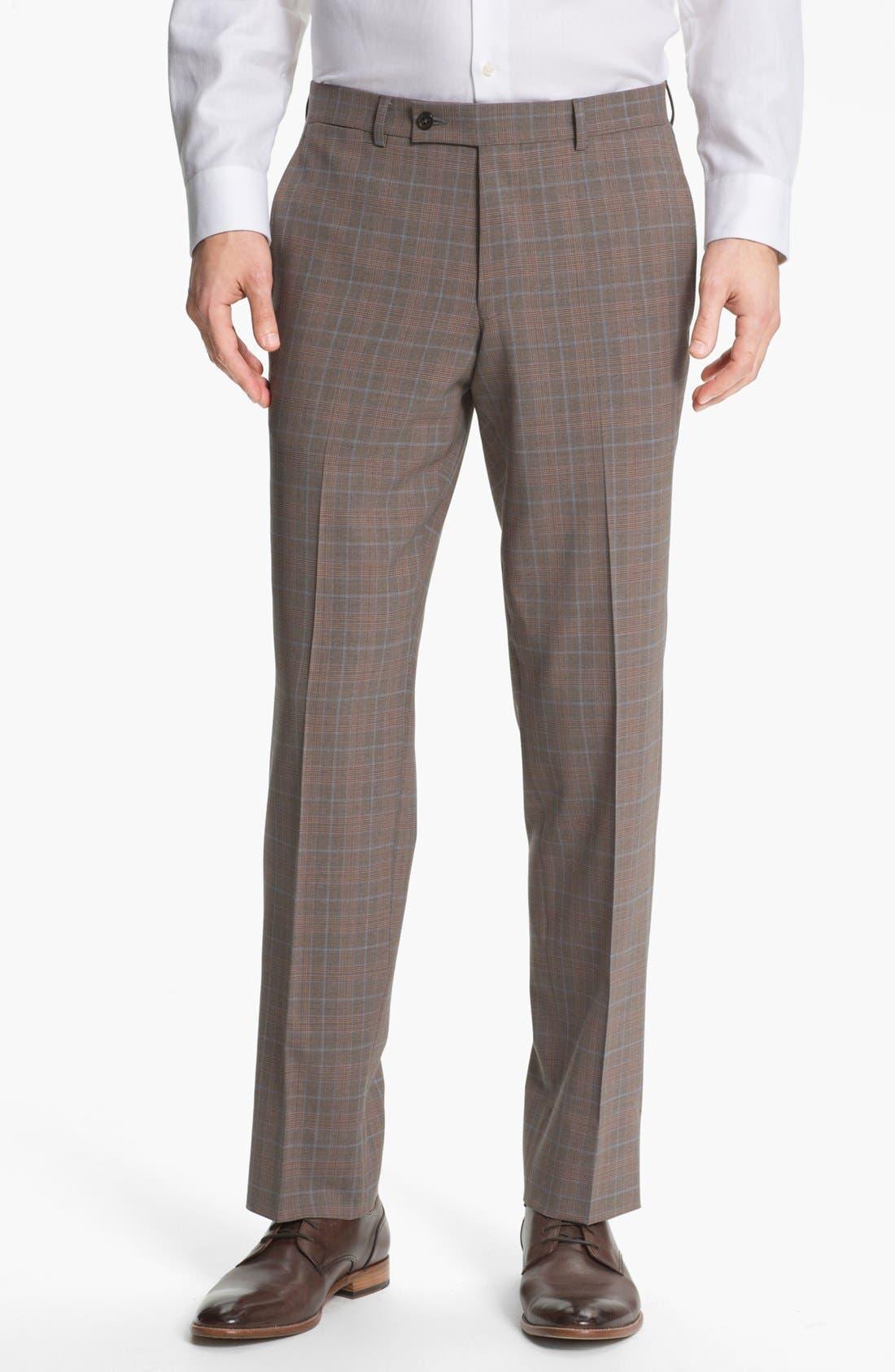 Alternate Image 4  - Ted Baker London Trim Fit Plaid Suit