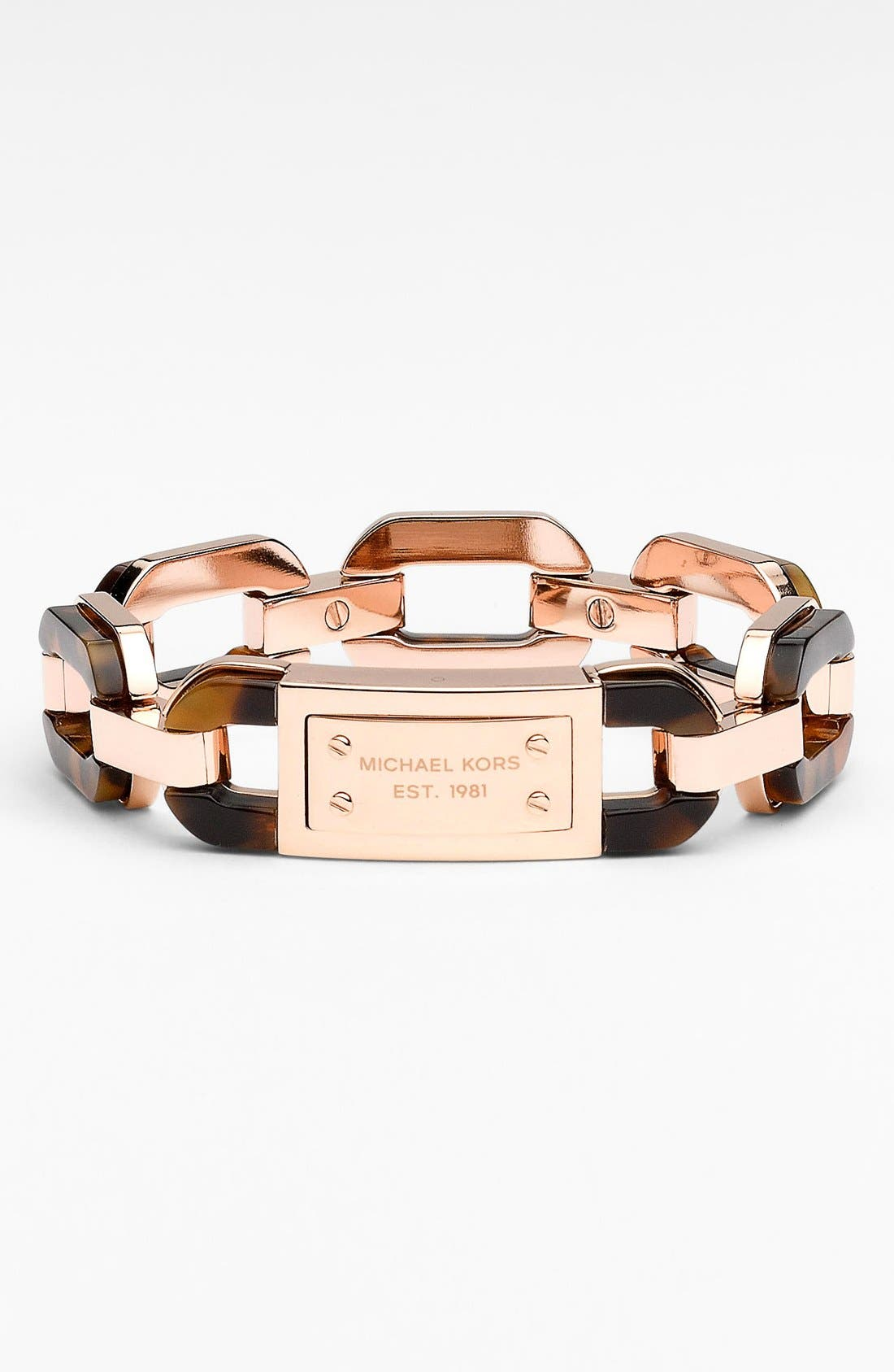 Main Image - Michael Kors Mixed Media Anchor Link Bracelet
