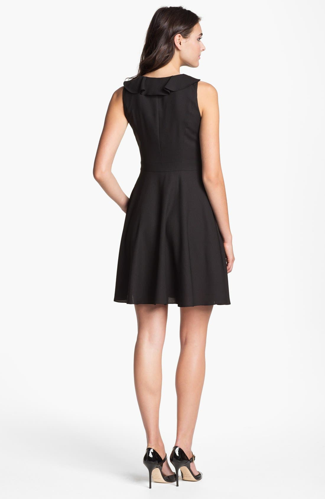 Alternate Image 2  - Marc New York by Andrew Marc Ruffled Fit & Flare Dress