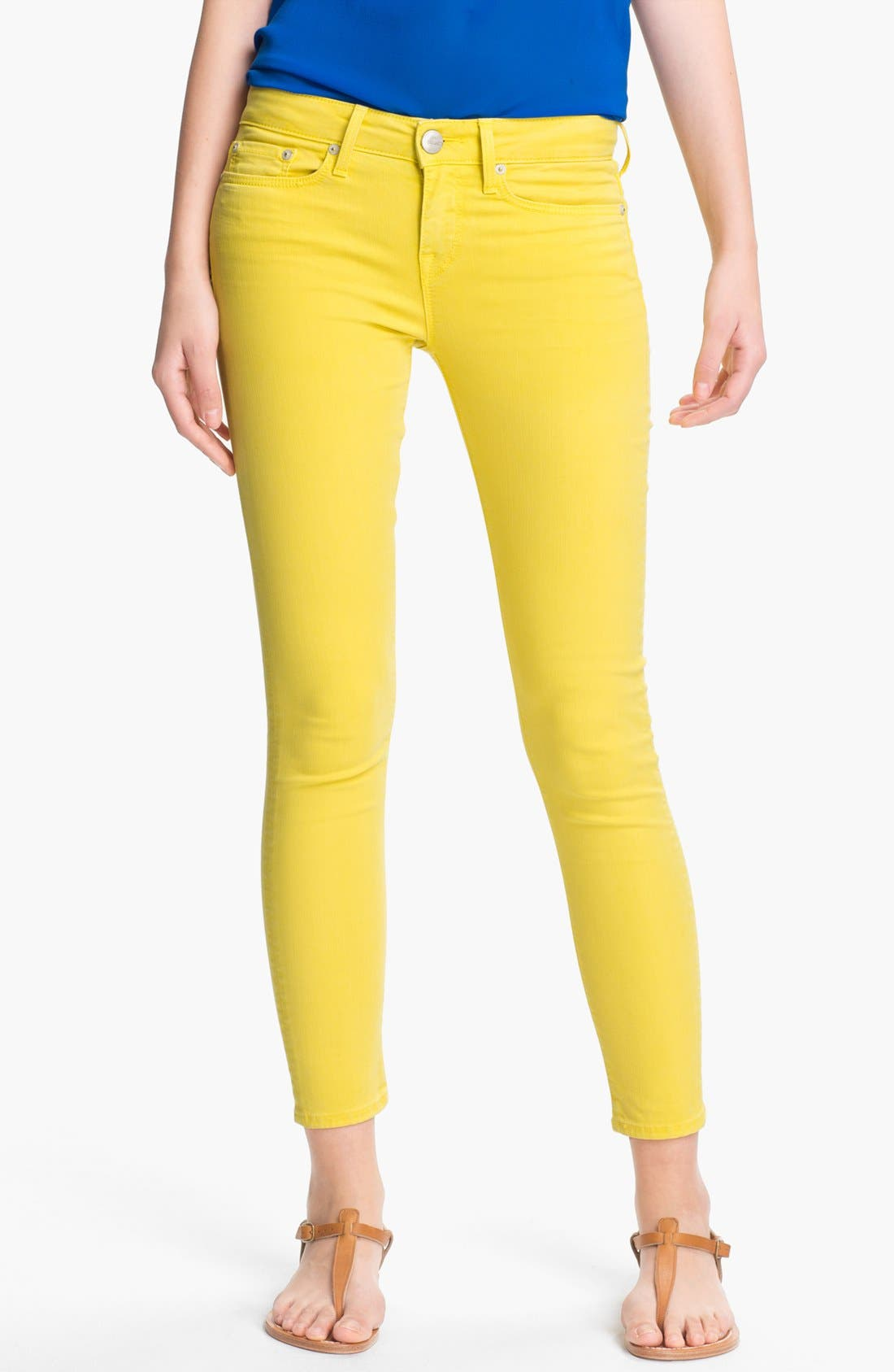 Alternate Image 1 Selected - Vince Crop Skinny Stretch Jeans (Citris)