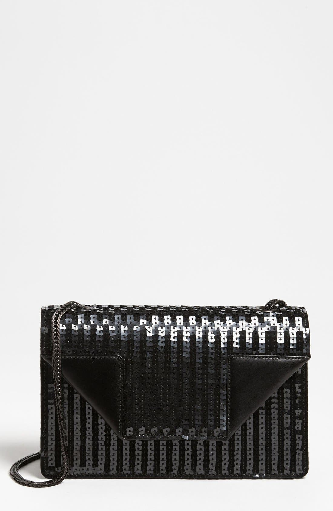 Alternate Image 1 Selected - Saint Laurent 'Betty' Sequin Leather Shoulder Bag