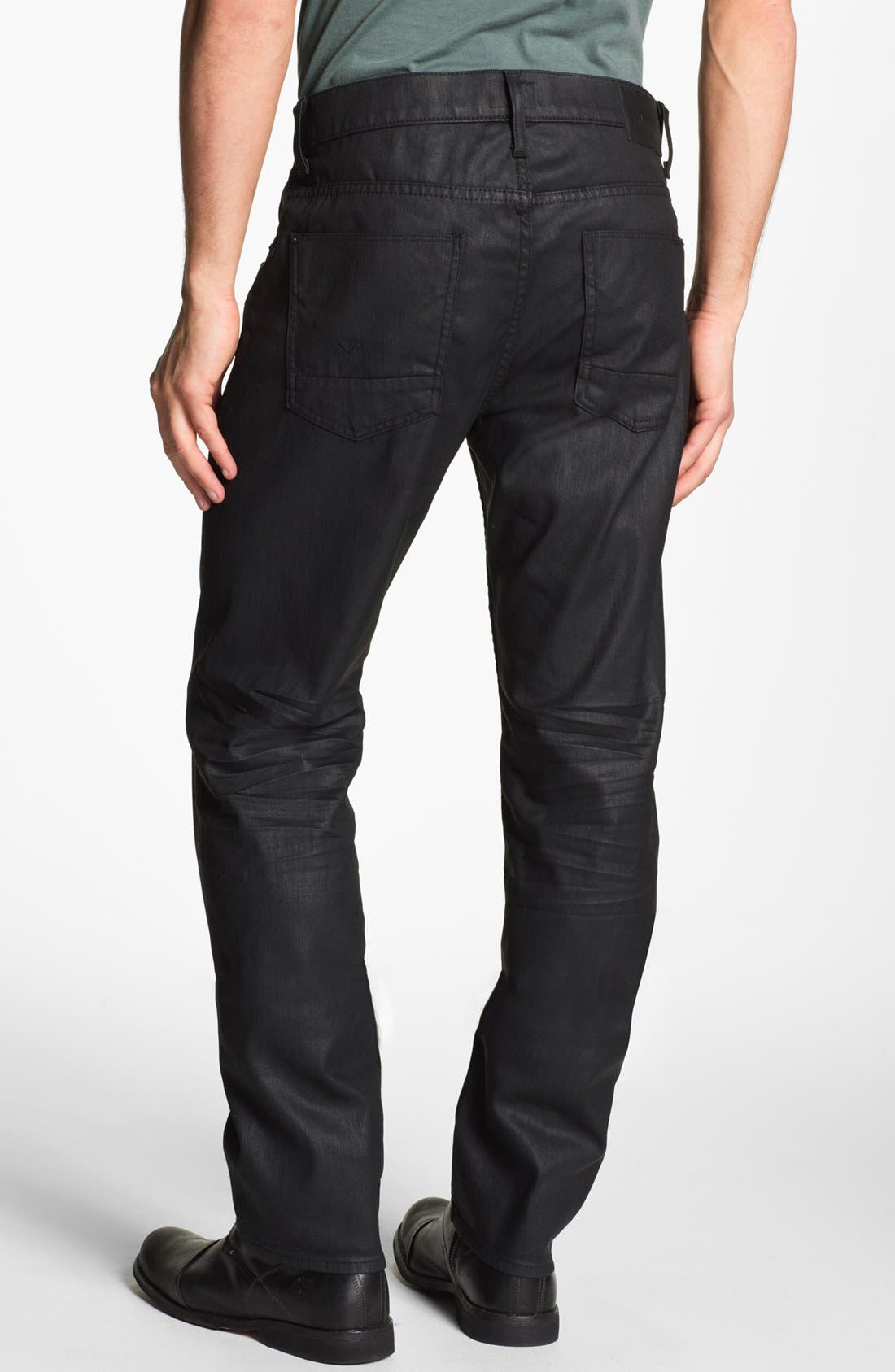 Main Image - Hudson Jeans 'Dandy' Slouchy Straight Leg Jeans (Tar)