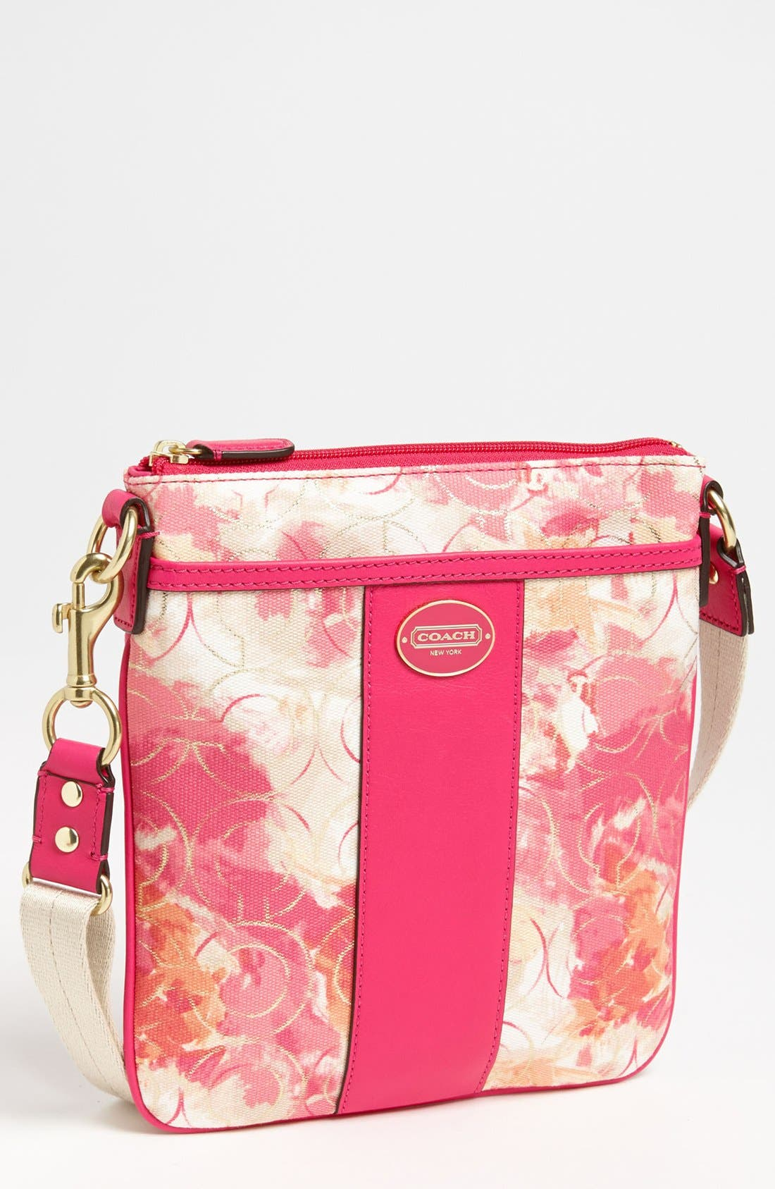 Alternate Image 1 Selected - COACH 'Swingpack' Floral Print Crossbody Bag