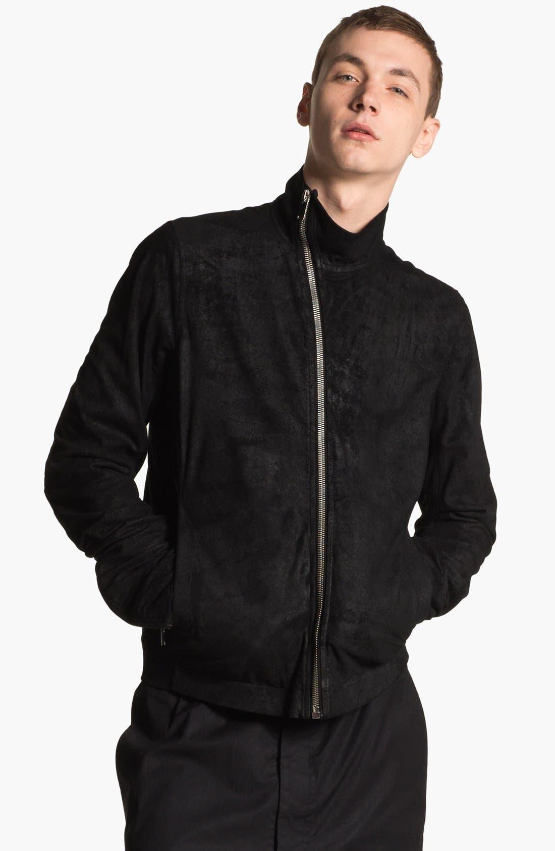 Main Image - Rick Owens 'Mollino' Lambskin Leather Jacket